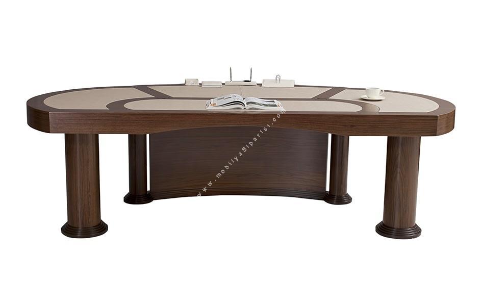 ahpaş kaplamalı cilalı makam masası