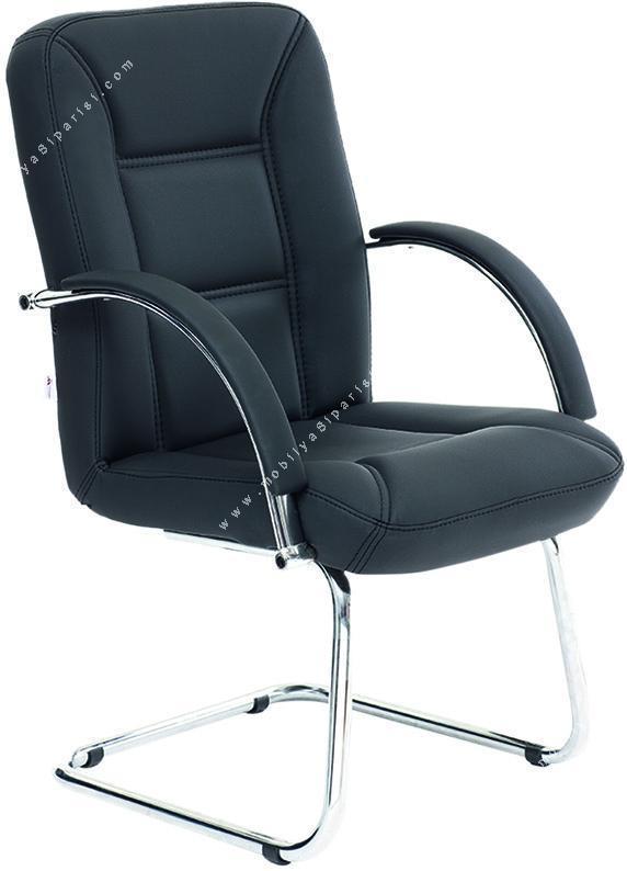 along krom sabit u ayaklı misafir koltuğu