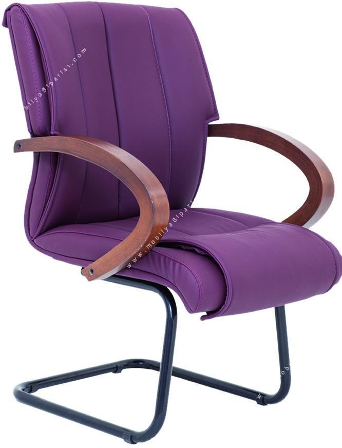 artic ahşap sabit u ayaklı misafir koltuğu