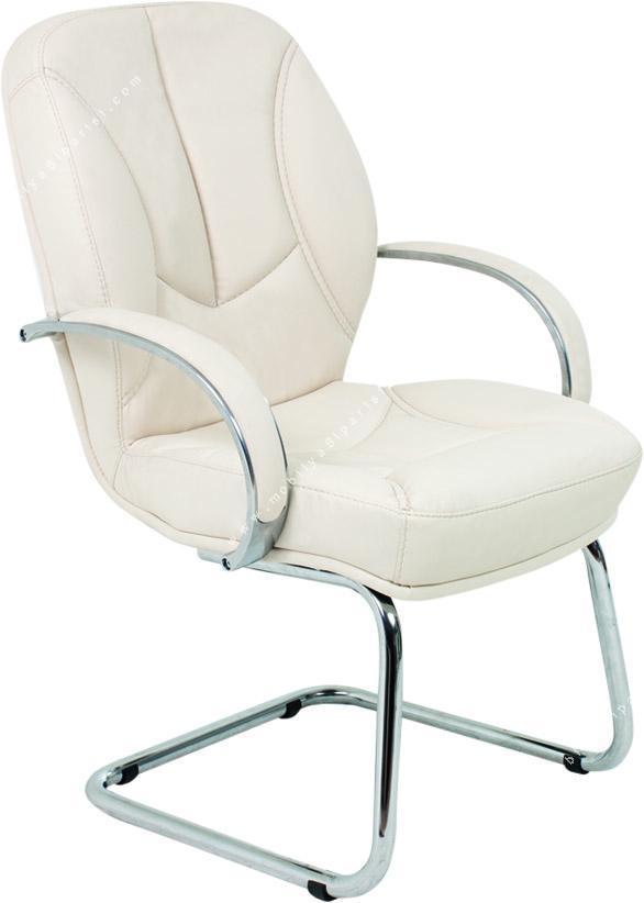 base krom sabit u ayaklı misafir koltuğu