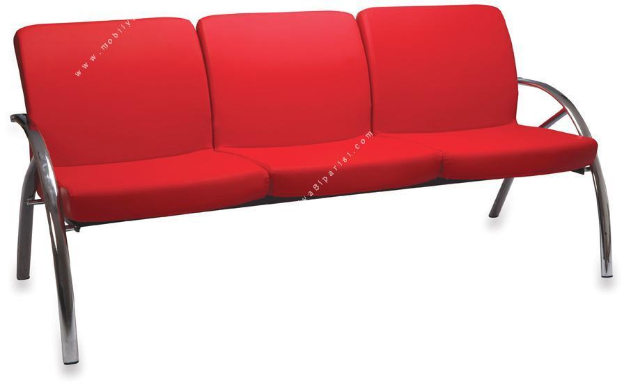 beni bekleme koltuğu krom üçlü