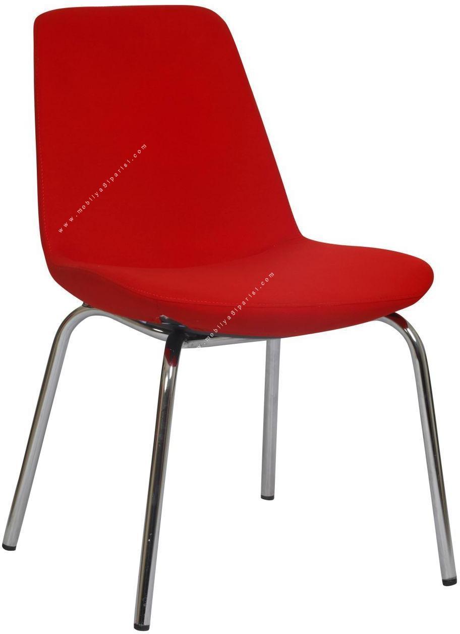 bente krom ayaklı misafir sandalyesi