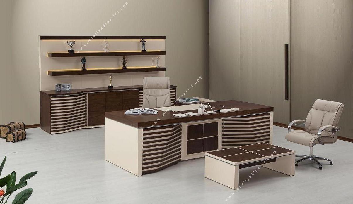 bossa ahşap makam mobilyası takımı