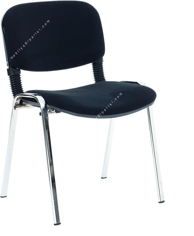 enigma krom ayaklı misafir sandalyesi