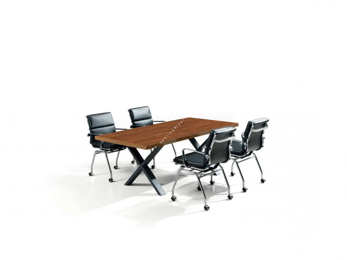 flamel ofis toplantı masası x ayak