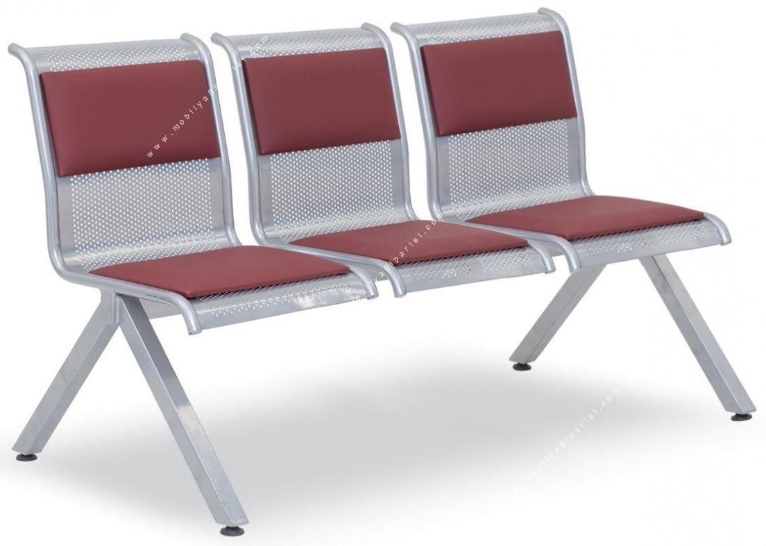 fondip metal üçlü bekleme alanı koltuğu