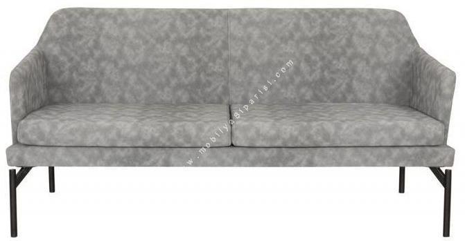 fortela metal ayaklı üçlü ofis kanepesi