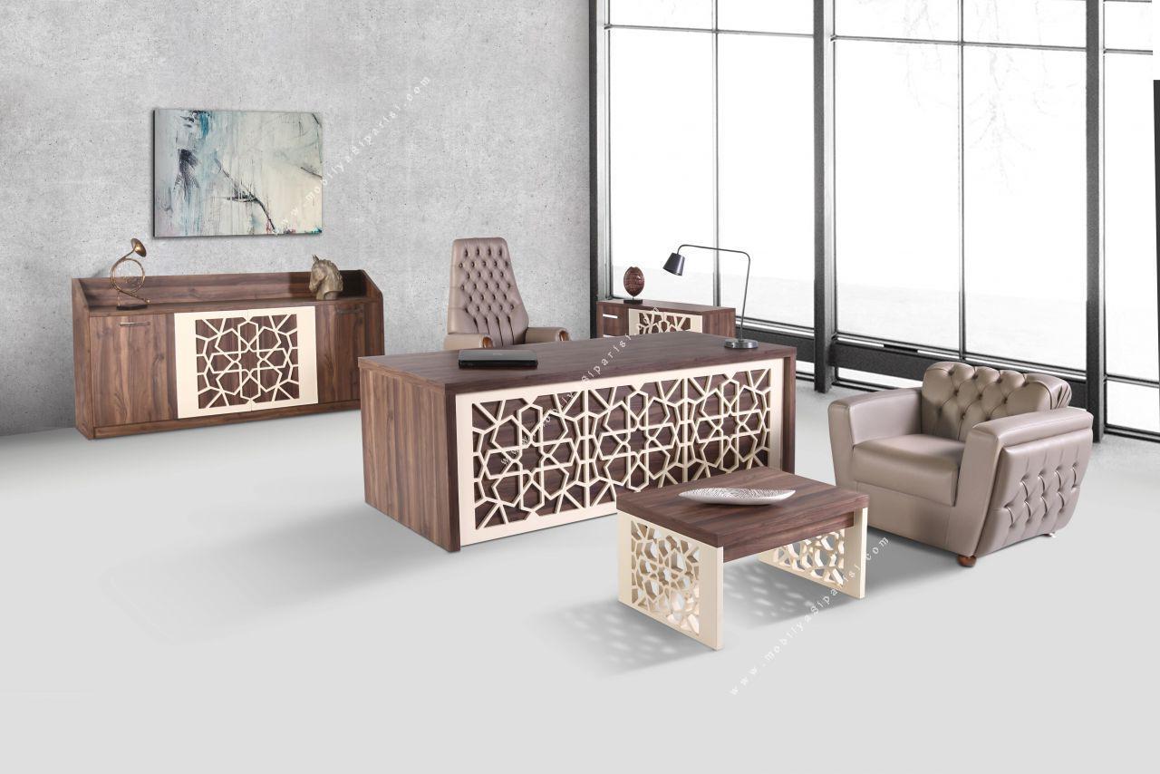 han desenli makam mobilyası takımı