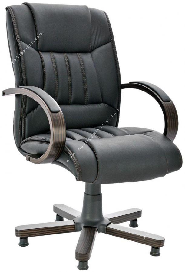 klayton ahşap yıldız ayaklı misafir koltuğu