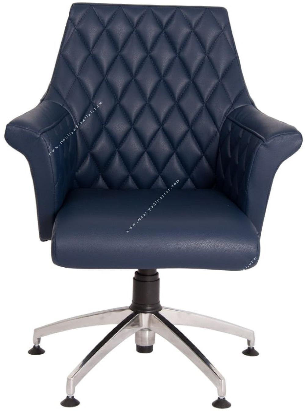 kold kapitoneli yıldız ayaklı misafir koltuğu
