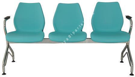 leaf kollu üçlü bekleme koltuğu