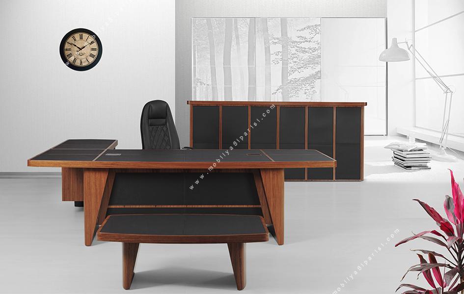 leather cilalı makam mobilyası takımı