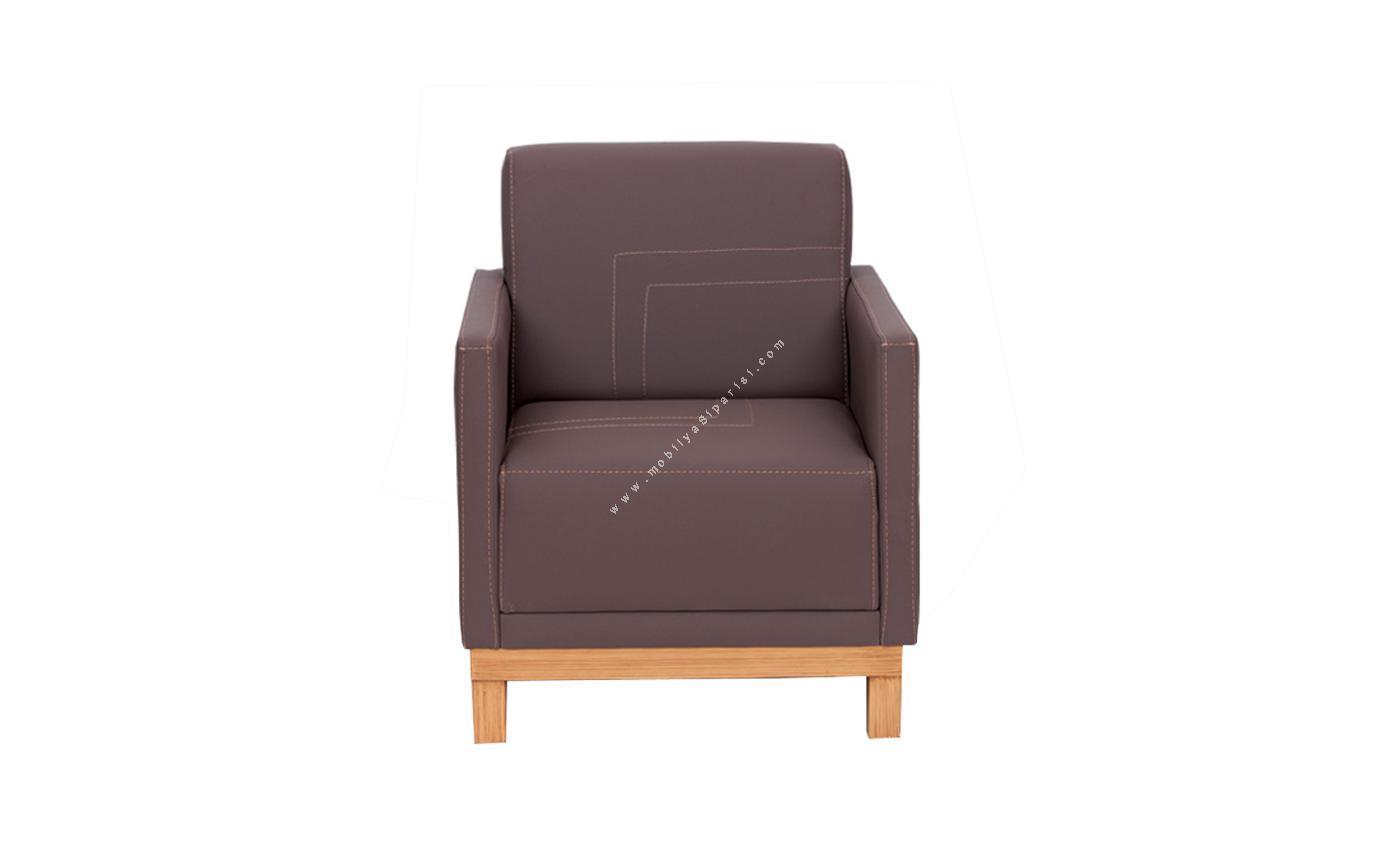 look ahşap ayaklı tekli ofis kanepesi