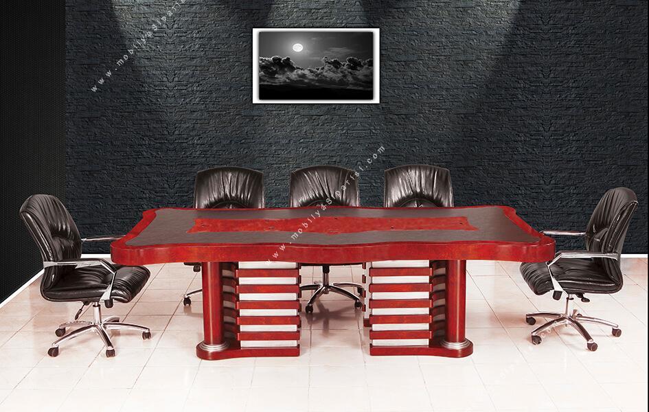 lord  doğal ahşap toplantı masası 260cm