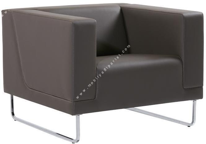 louren metal ayaklı tekli ofis kanepesi