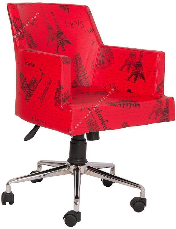lüks desenli ofis çalışma koltuğu