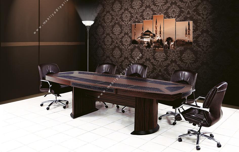 Mikanos Derili Ahşap Toplantı Masası 210Cm