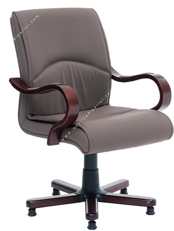 montrieal ahşap yıldız ayaklı misafir koltuğu