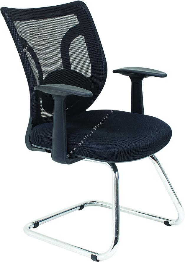 movart fileli sabit ayaklı misafir koltuğu