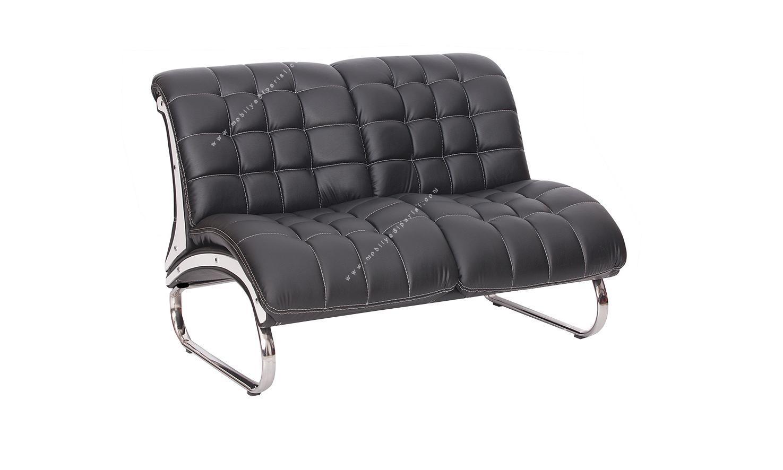 vernon kare dikişli ikili kanepe