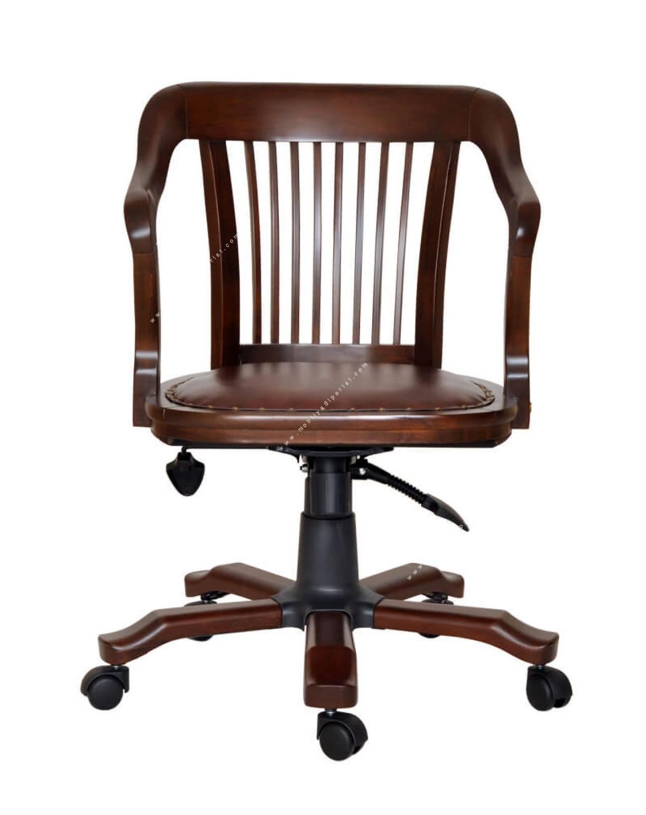 vintage ahşap makam koltuğu