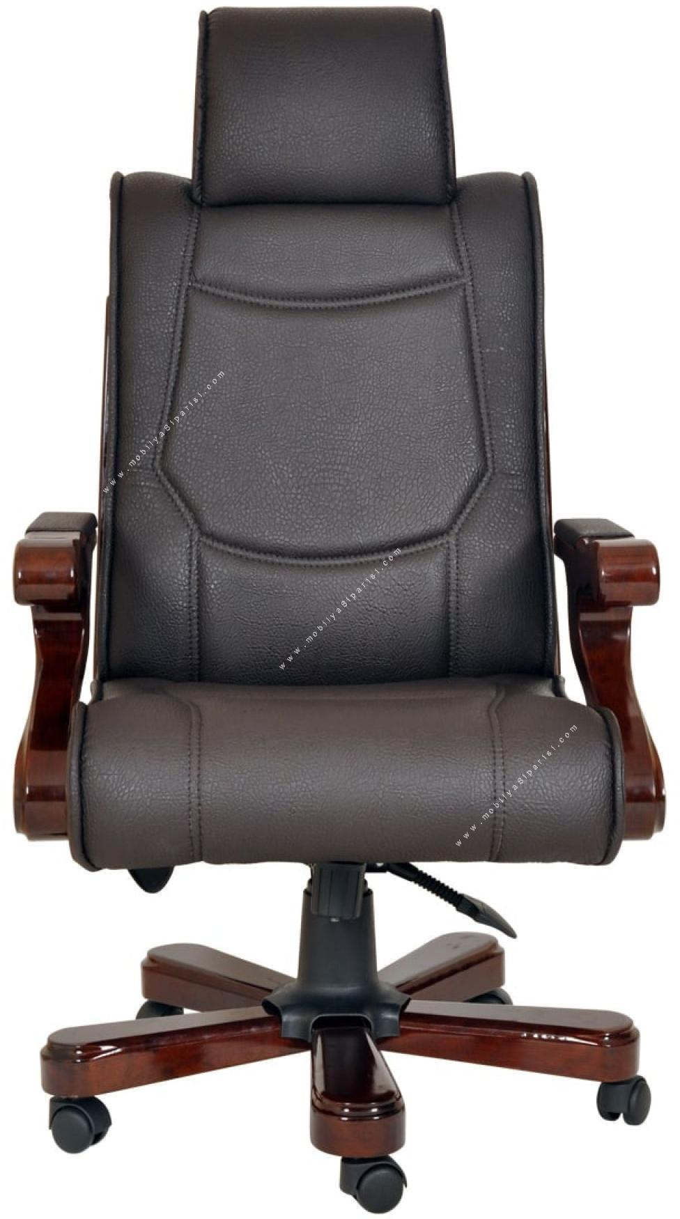 vip ahşap makam koltuğu