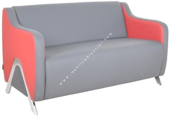 wolans metal ayaklı ikili ofis kanepesi