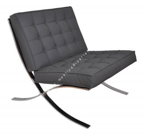 yonnes kare dikişli tekli ofis koltuğu